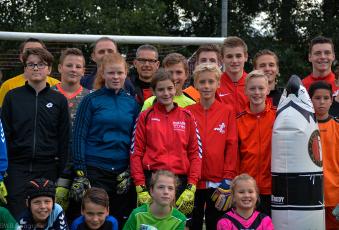 Foto's Feyenoord keepers clinic dinsdag 3 oktober 2017