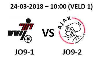 VVIJ JO9-1 - Ajax JO9-2 | zaterdag 24 maart 10:00 uur, veld 1
