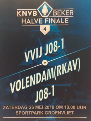 VVIJ JO8-1 tegen Volendam JO8-1 Halve finale beker, 26 mei om 10:00 uur
