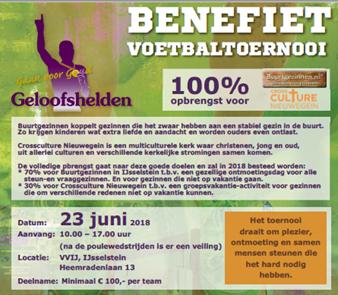 Benefiet Voetbaltoernooi - 23 juni 2018