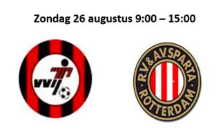 Jeugdteams VVIJ vs SPARTA op 26 augustus 2018 bij VVIJ