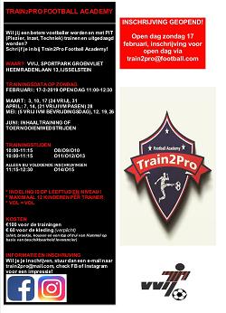 Open dag Train2Pro - 17 februari 11:00 - 12:30