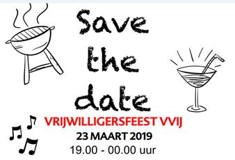 Vrijwilligersavond VVIJ op 23 maart
