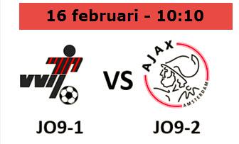 VVIJ JO9-1 - Ajax JO9-2 | zaterdag 16 februari 10:10 uur, veld 1