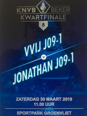 JO9-1 vs Jonathan JO9-1 - kwartfinale beker (30 maart)