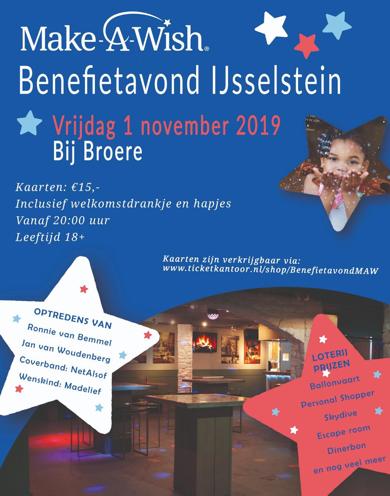 Make-A-Wish Benefietavond bij Broere 1 November 2019