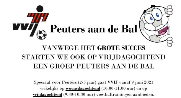 Peuters aan de bal - start 9 juni 10:00 en ook op vrijdag 9:30