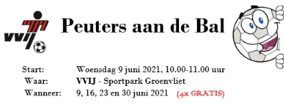 Peuters aan de bal - start 9 juni 10:00