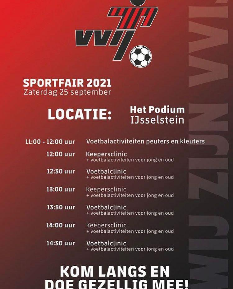 VVIJ is aanwezig op Sportfair & verenigingenmarkt 25 september 2021